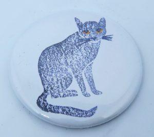 fridge magnet, magnets, cat fridge magnets, cat magnets, cat gifts, cat themed gifts, jane adams, pawprint designs