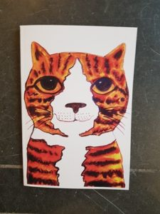 ginger cat, notebook, A5 notebook, illustration, cat artwork, jane adams, pawprint designs, cornwall
