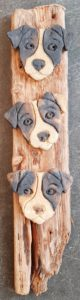 wall hanging dog themed, sstoneware, wall plaque, driftwood, jane adams ceramics, st just, cornwall terrier