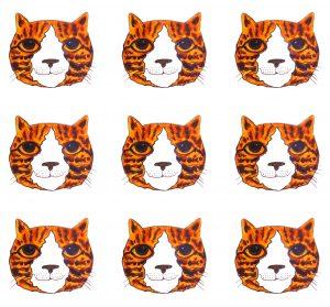greetings card, card, birthday card, cat card, ginger cats, jane adas