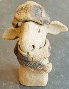 Rogues gallery, sheep, ceramic sheep, woolly jumpers, pottery sheep, handmade ceramics, studio pottery sheep, jane adams ceramics,