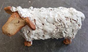 sheep, ceramic sheep, handmade stoneware, pottery sheep, sheep ornaments, jane adams ceramics, woolly jumpers, wool, white sheep