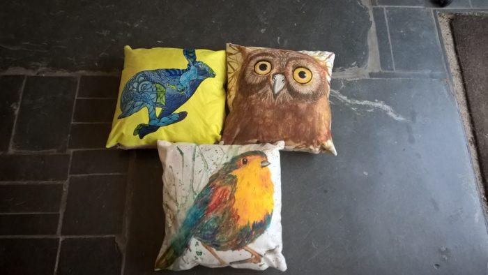 wraptious, cushions, artwork on cushions