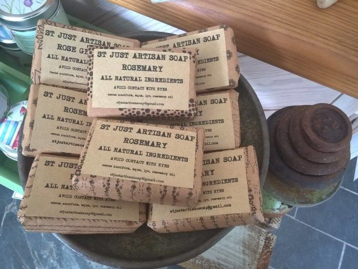 hand made soap, st just artisan soap, Cornish hand made soap compan,