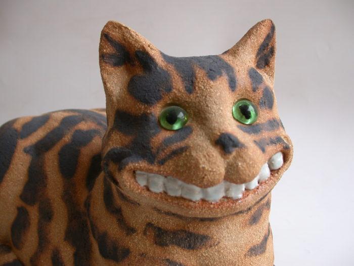 cat grinning